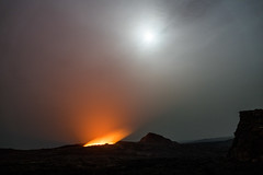 Erta Ale volcano at night, Ethiopia (hugemittons) Tags: ethiopia africa hornofafrica african ethiopian ertaale volcano tourists tourgroup ertaalevolcano activevolcano fullmoon