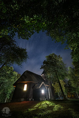 Enlightened church (PeterGrayPhoto) Tags: church chapel architecture night stars nightscape olsztynek