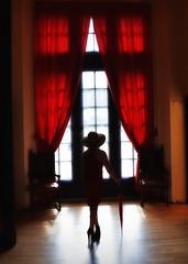 Domaine Rouge.. (Harleynik Rides Again.) Tags: silouette backshot woman sexy red rouge domaine window light heels legs reflection nikond810 harleynikridesagain