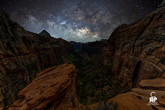 Zion Milky Way (Chris Ross Photography) Tags: zion milkyway panaorama point night sky red rock utah