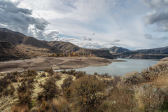 lucky peak-10-31-16-22 (Ken Folwell) Tags: clouds mountains water desert landscapes idaho canon5dmkiii ef24105mmf4l resevoir sagebrush reflections landscape