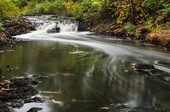 Monatiquot River falls (alohadave) Tags: braintree massachusetts monatiquotriver norfolkcounty northamerica overcast pentaxk5 places river sky unitedstates water waterfall smcpda1650mmf28edalifsdm