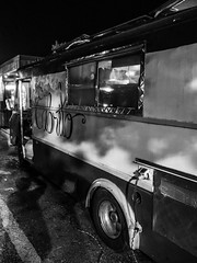 Cabrito (Doug Knisely) Tags: shadows olympus 1517 street omdem5markii foodtruck night bw centraldistrict seattle cabrito