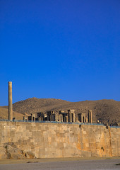 The site of persepolis, Fars province, Marvdasht, Iran (Eric Lafforgue) Tags: 0people achaemenid achaemenidempire ancient ancientcivilisation archaeology archeology architectural architecture blue clearsky colorimage copyspace culture day desert heritage historical history iran iranianculture landmark marvdasht middleeast monument nopeople nobody oldruin orient outdoors persepolis persia photography ruin ruined ruins shiraz sunny takhtejamshid travel traveldestinations unescoworldheritagesite vertical farsprovince ir
