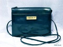 Perry Ellis Handbag (dog.happy.art) Tags: handbag purse bag patent vintage perryellis collecting collectible