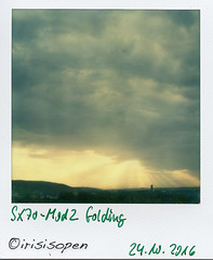 Strahlensatz # 008 # Polaroid SX70-Mod2 folding Impossible SX70 Color - 2016 (irisisopen f/8light) Tags: polaroid sx70 mod2 impossible color analog sofort instant irisisopen