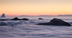 sea of fog (yves_matiegka) Tags: jura switzerland schweiz sunrise fog passwang belchen vogelberg waves winter alps