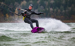 Shreddin' in the Rain (Zach Dischner) Tags: action epic fun kiteboarding oregon piercemartin sports storm wind rainy rain sport kitesurfing kite surf slingshot kites water watersports cool grey