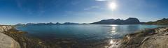 Straumfjorden (Jaime Prez) Tags: noruega water mountains fiordo panorama rocks fjord ocean ocano fiord norge montaas sol algas rocas agua norway noreg sun alger seaweed