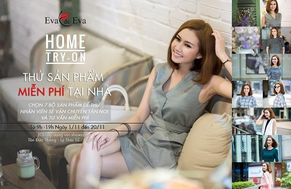 Home Try-on: Thử sản phẩm miễn phí tại nhà cũng Eva de Eva
