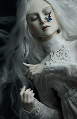 white witch (dolls of milena) Tags: bjd abjd black cherry doll resin aishat