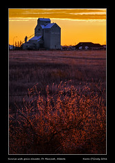 Sunrise with grain elevator, Ft. MacLeod, Alberta (kgogrady) Tags: fall grainelevator landscape sunrise ftmacleod alberta canada autumn cans2s colorful albertalandscapes buildings clouds canadianlandscapes canadianprairies colourful ab 2016 westerncanada xf55200mmf3548ois elevator wooden barbedwirefence fujifilmxe1 fujinon xe1 fujifilm picturesoffortmacleod picturesofalberta morning grass nopeople photosofalberta picturesofftmacleod photosofftmacleod prairie noone photosoffortmacleod