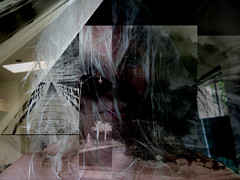 Help (soniaadammurray - On and off will try to keep up!) Tags: digitalphotography manipulated experimental monochrome abstract collage help quote yehudaberg communication power humble selfportrait