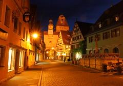 Rothenburg by Night (EP Diederiks) Tags: deutschland germany rothenburg tauber night nacht medieval city stad stadt town tower turm street strasse house haus fachwerk