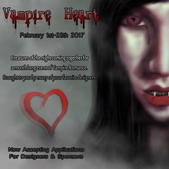 Vampire Heart Event Poster (Salem Lovecraft) Tags: secondlife sl event vampire gothic romance love valentines