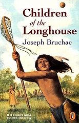Children of the Longhouse (Joseph Bruchac) PB 9780140385045 (Vernon Barford School Library) Tags: 9780140385045 josephbruchac joseph bruchac historicalfiction history historic historical brothersandsisters brothers sisters siblings mohawk twins multigenerational vernon barford library libraries new recent book books read reading reads junior high middle vernonbarford fiction fictional novel novels paperback paperbacks softcover softcovers covers cover bookcover bookcovers fnmi firstnations nativepeople nativepeoples native aboriginal