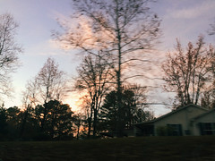 it's the thought that counts (nikkivercetti) Tags: vsco q10 sky driving window georgia winter 2016 december trees house