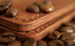 Coffe and leather (ezhikoff) Tags: coffe leather macro wallet