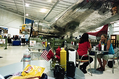 Lunch Under A B17 (bhop) Tags: bomber wwii army air corps palm springs museum nikon f4 f4s filmcamera kodak portra 400 iso400 film diy unicolor v700 aircraft airplane warplane warbird