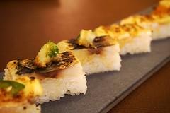 Sushi at Ja Bistro (deeeelish) Tags: aburi sushi mackerel