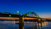 Old Sava Bridge (markotadic) Tags: landscape sunset belgrade nikon d7000 blue architecture bridge river night savanova serbia waterfront