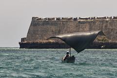sailing (António Alfarroba) Tags: mozambique moçambique ilhademoçambique sailing sail canoe fortress fortalezadessebastião fortaleza indic índico fisherman pescador carvedcanoe