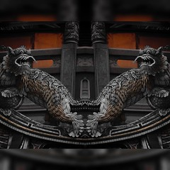 Double Dragon, Banqiao 081815 #Dragon #Banqiao #temple #culture #art #ceramic #instaart #travel #Asia #dark #mysterious #mythology (Badger 23 / jezevec) Tags: building arquitetura architecture square temple arquitectura asia dragon culture taiwan architektur   architettura templo architectuur tempel arkitektur templom tempio  hram kuil arkkitehtuuri architektura   banqiao arhitektura arkitektura chrm  tempelj temppeli instaart      witynia arhitektuur tenplu   tempele  teampall  ventykla  stavebnictv   templis  tempull  instagram uploaded:by=instagram   mbd tempju  instaarch instataiwan  instaarchiecture