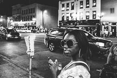 Nashville, Tennessee (G. L. Brown) Tags: blackandwhite bw monochrome bar contrast neon noir shadows nashville tennessee streetphotography nightclub signage grainy nashvillestreetphotography