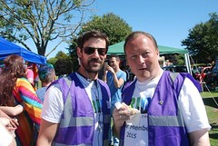 "Alan Butler with Volunteer Ted at Plymouth Pride 2015 - Plymouth hoe • <a style=""font-size:0.8em;"" href=""http://www.flickr.com/photos/66700933@N06/20621354342/"" target=""_blank"">View on Flickr</a>"