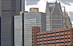 Detroit City (dwgibb) Tags: bridge lighthouse canada skyline architecture buildings boat michigan detroit casino greatlakes windsor ceasars detroitriver riverwalk freighter rencen ambassadorbridge gmbuilding millikenstatepark