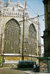 Il Duomo (Milan Cathedral), Milan, Italy, 1956 (gbfernie5) Tags: italy milan architecture europe cathedral milano gothic medieval 1950s 1956 kodachrome ilduomo desgn