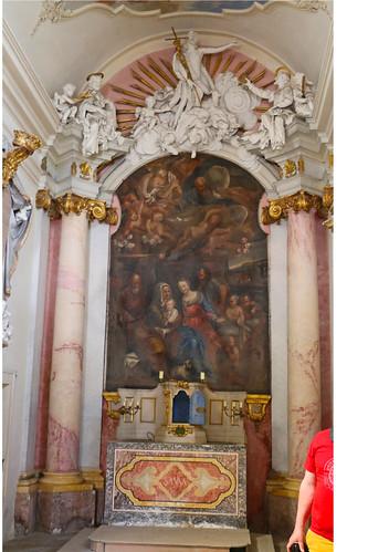 Greillenstein. Gruftkapelle, 1706 Hochaltar