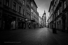 Floriaska street and St. Mary's Basilica, Cracow, Poland (Micha Morawski) Tags: longexposure church basilica krakw