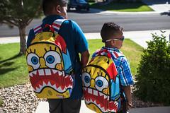 BEST BACK PACK AWARD GOES TO (espressoDOM) Tags: school back dj pack dash firstday spongebob backpack firstdayofschool elementary dashiel nickelodeon espressodom meuswe