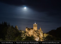 Romania - Transylvania - Dracula's Castle at night during setting Full Moon ( Lucie Debelkova / www.luciedebelkova.com) Tags: world trip travel vacation holiday tourism beautiful wonderful nice fantastic perfect europe european tour place awesome union sightseeing central eu visit location tourist best journey romania stunning destination sight traveling lovely visiting transylvania exploration incredible touring breathtaking rumania romanian southeastern brancastle roumania rumunsko romnia luciedebelkova wwwluciedebelkovacom luciedebelkovaphotography