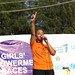 Abelone Melese, Goodwill Ambasador to UNICEF Ethiopia, performs on the event  of Girls' Empowerment campaign