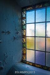 Stained glass window (Bas Lammers) Tags: urban colorful nederland stainedglass kerk kleurrijk halfweg lichtval verlaten
