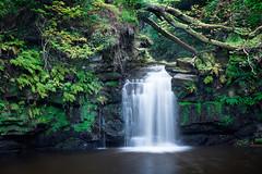 Thomason Foss Waterfall (Photograferry) Tags: uk longexposure trees england nature rural river landscape waterfall stream quiet yorkshire idyllic beckhole thomasonfoss