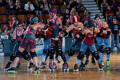rebels_vs_panic_L3506411 1 (nocklebeast) Tags: ca usa santacruz rollerderby rollergirls zombies vampires skates organicpanic santacruzderbygirls redwoodrebels