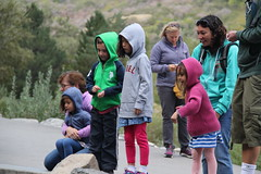 Feeding the fish 4 (Aggiewelshes) Tags: travel fish utah october lisa vivian bridalveilfalls olsen cailin jovie 2015 provocanyon jalila