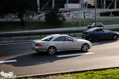 Mercedes-Benz CL 55 AMG. (Stefan Sobot) Tags: car race silver nikon serbia fast exotic german mercedesbenz belgrade 55 luxury rare beograd supercar cl amg srbija hamma d7000
