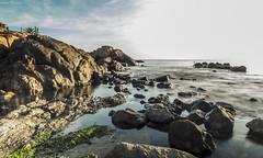 Calma (GaboUruguay) Tags: ocean sky cloud reflection nature uruguay coast mar rocks natural maritime cielo reflejo nube roca oceano fader maldonado filtro ndfilter costero neutraldensity densidadneutra