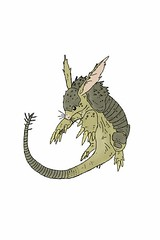 Shard Shell Armadillo (ink3830) Tags: animal monster rodent pin desert drawing shell ears folklore needle fantasy beast spines creature armadillo shard spikes mythical carapace ardvark