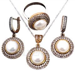 http://www.silversez.com/urun/2505-925-ayar-gumus-hurrem-kosem-sultan-set-yuvarlak-inci-tonu-tasli-925-sterling-silver-hurrem-kosem-sultan-set-round-pearl-color-turkish-ottoman.html  www.silversez.com #argento #diamante #anello #orecchini #pendenti #turki (silversez) Tags: set silver handmade istanbul diamond plata pearl ottoman fatima joyeria diamante gumus argento anello gm turco turkishsilver orecchini pendenti  hurrem  silver925      turkishsilverjewelry argentoturco