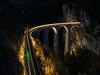 30.10.2015, Landwasser viaduct at night II., Tiefencastel - Filisur (miroslav.volek) Tags: landwasser viaduct rhb sbb train swiss tiefencastel filisur night unesco colours snow muot bergün viadukte albula bergu preda moritz st bernina glacier express bahn rhätische railway rhaetian railroad outdoor