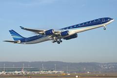 Azerbaijan Airlines Airbus A340-600; 4K-AI08@ZRH;19.12.2015/808bm (Aero Icarus) Tags: plane switzerland aircraft aeroplane flugzeug takeoff avion zrh zürichkloten zürichflughafen zürichairport azerbaijanairlines airbusa340600 4kai08