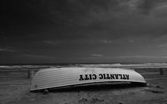 Upside down - Atlantic City (christophbieniek) Tags: bw usa beach strand blackwhite newjersey nj monopoly lifeboat atlanticcity schwarzweiss staaten schwarzweis rettungsboot vereinigte silverefex