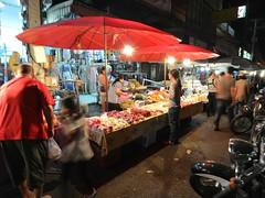 Parasols of food stall (kawabek) Tags: thailand stall chiangmai         parsol