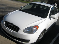 My 2011 Hyundai Accent. (dccradio) Tags: shadow white nc parkinglot parking northcarolina parked hyundai accent lumberton 20011 robesoncounty