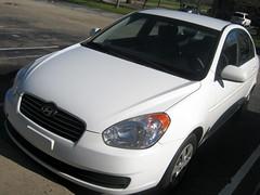 My 2011 Hyundai Accent. (dccradio) Tags: shadow white nc parkinglot parking northcarolina parked hyundai accent lumberton 20011 robesoncounty